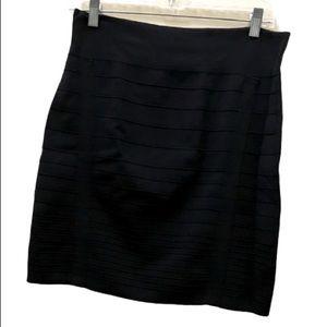 3/$20 Rock & Republic pleated black bandage skirt